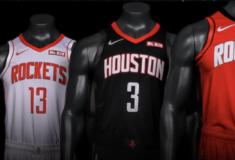 Image de l'article Nike dévoile les maillots officiels des Houston Rockets pour la saison 2019-2020