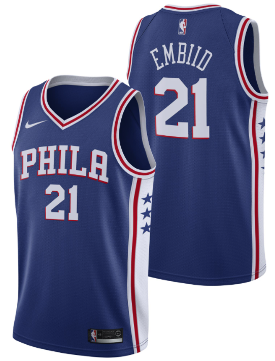 maillot icon edition 76ers joel embiid