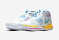 Image de l'article Sortie d'un coloris ultra original pour la Kyrie 6 de Nike : la Neon Graffiti!