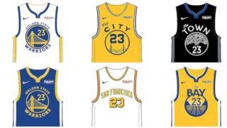 """Image de l'article Nike présente le maillot officiel des Golden State Warriors 2019-2020 à domicile : le modèle """"Association Edition"""""""