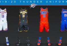 """Image de l'article Nike dévoile le maillot officiel du Oklahoma City Thunder 2019-2020 pour les gros matchs : la """"Statement Edition"""""""