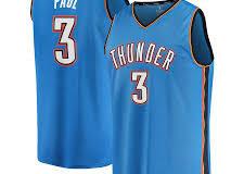 """Image de l'article Le Oklahoma City Thunder et Nike dévoilent le maillot officiel 2019-2020 à l'extérieur : la """"Icon Edition"""""""