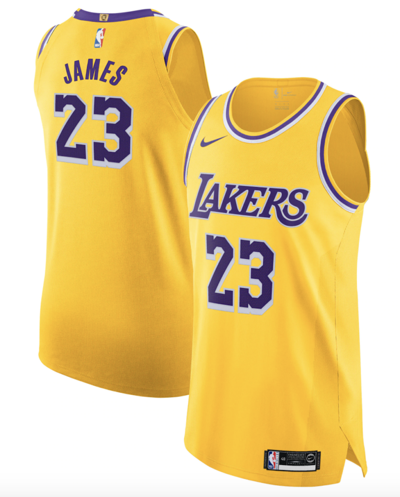 maillot nike authentic lebron james lakers