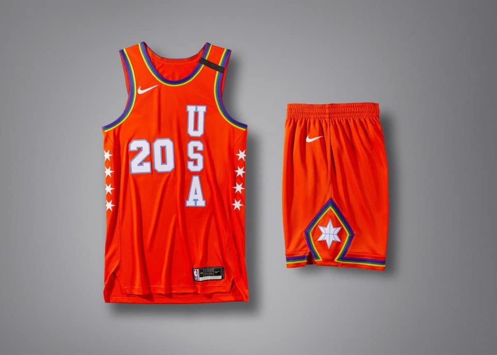 maillot rising star challenge 2020 team usa