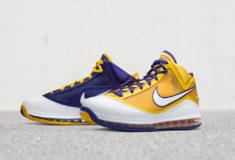 Image de l'article Une chaussure aux couleurs des Lakers : la LeBron 7 Media Day !
