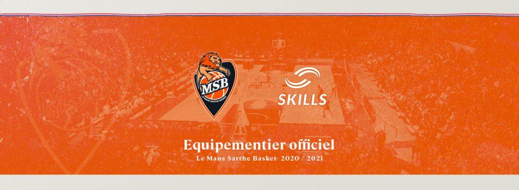skills devient le partenaire du Mans SArthe Basket