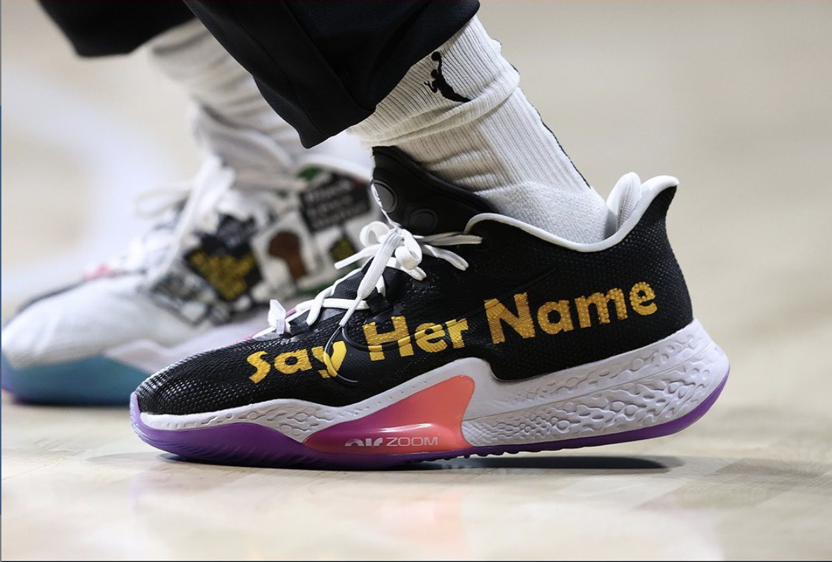 nike-air-zoom-bb-nxt-say-her-name-custom-breanna-stewart chaussure customisée wnba