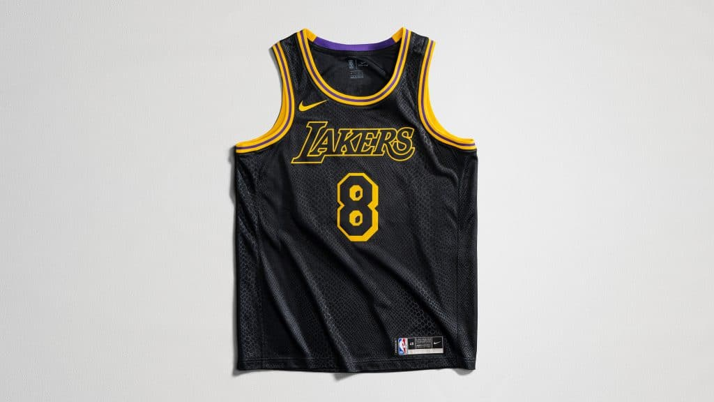 maillot kobe bryant los angeles lakers city edition black mamba