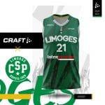 Les nouveaux maillots du CSP Limoges dévoilés par Craft