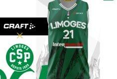Image de l'article Les nouveaux maillots du CSP Limoges dévoilés par Craft