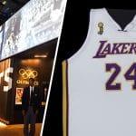 Un maillot des finales NBA 2008 de Kobe Bryant au Musée national de l'histoire et de la culture afro-américaine