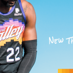 Le maillot City des Phoenix Suns, référence à « The Valley of the Sun »