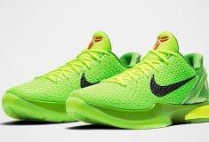 Image de l'article Le Kobe 6 Protro de Nike débarque sur le marché, avec son coloris «Grinch»