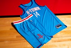 Image de l'article Maillot City des Houston Rockets : on découvre le « Baby blue » !