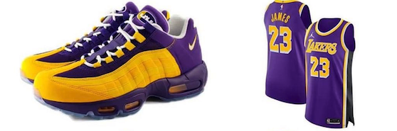 Air Max 95 NRG Lakers statement