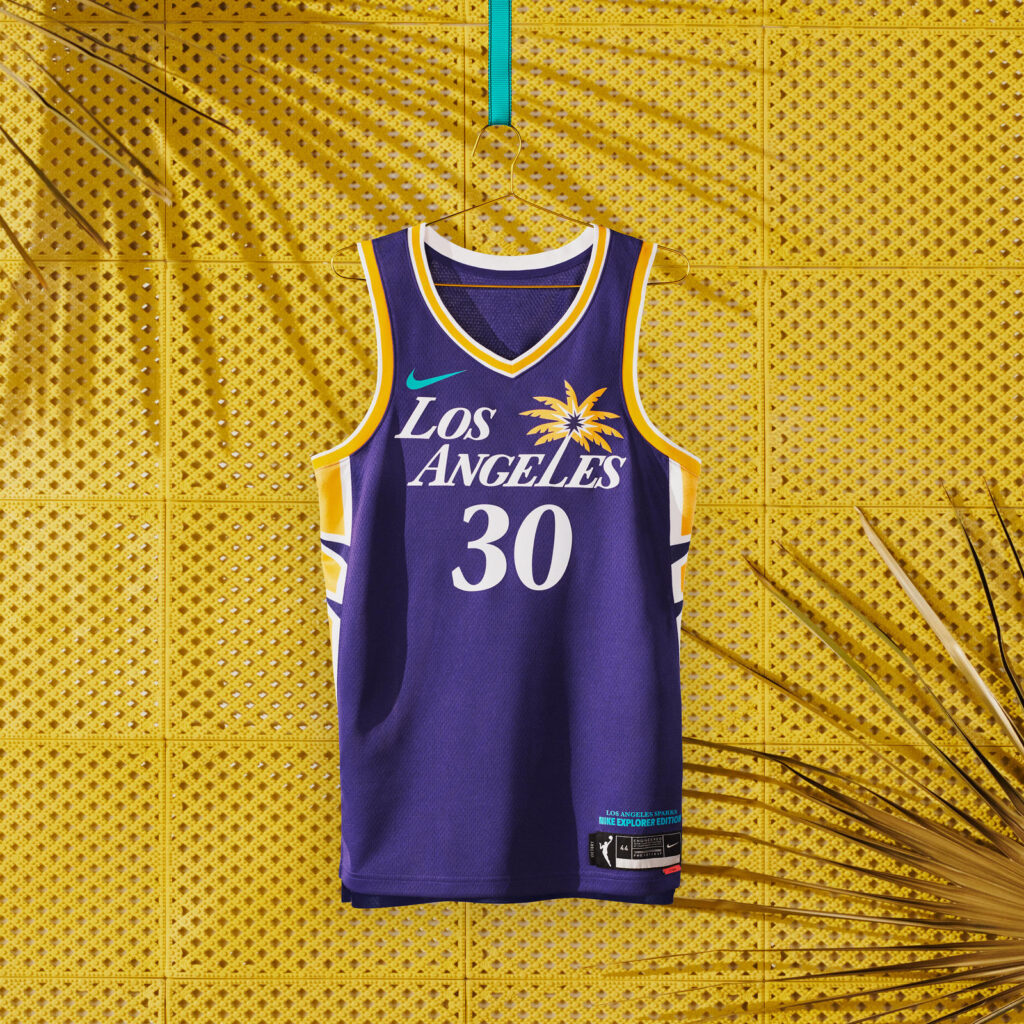 maillot nba 2021 los angeles sparks explorer edition