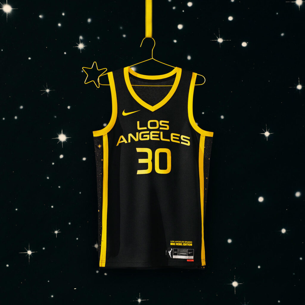 maillot nba 2021 los angeles sparks rebel edition