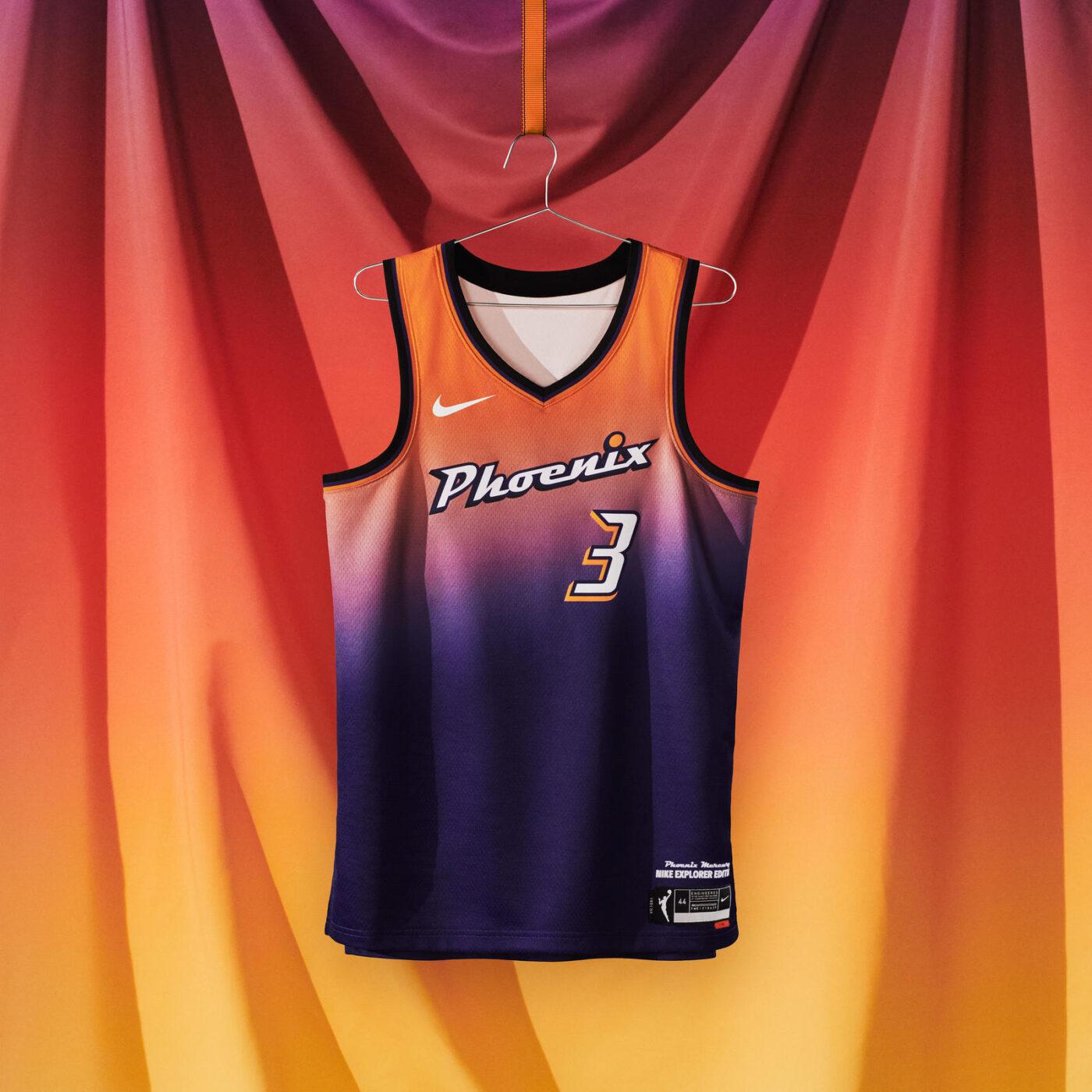 maillot nba 2021 phoenix mercury rebel edition