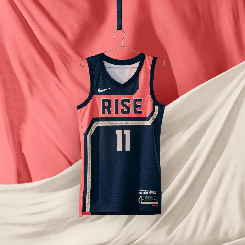maillot nba 2021 washington mystics rebel edition