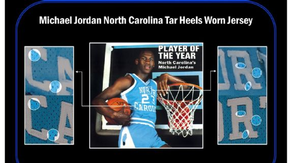 maillot de michael jordan 1,38 millions dollars enchere north carolina
