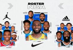 Image de l'article Infographie NBA : les rosters par équipementiers