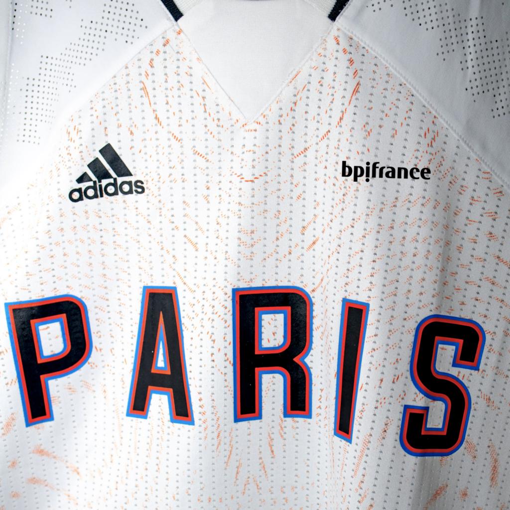 maillot domicile paris basketball adidas 2021 2022