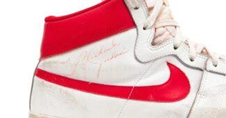 Image de l'article La Nike Air Ship de rookie de Michael Jordan vendue aux enchères